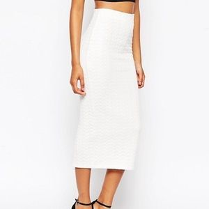 ASOS Cable Knit Pencil Skirt